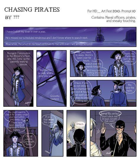 Chasing Pirates Nc 17 Drarry Fanart Harry Potter Anime Harry Potter Fan Art