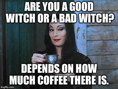 Good Witch Or Bad Witch The Worst Witch Drinking Tea Witch
