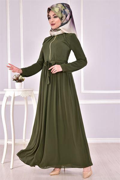 Modamerve Sik Tesettur Boydan Elbise Modelleri Moda Tesettur Giyim Elbise Modelleri Elbise Moda Stilleri