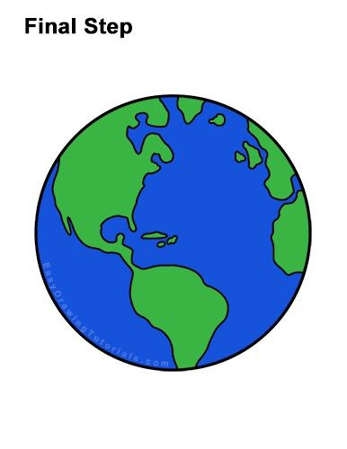 How To Draw Earth Earth Drawings Globe Drawing Drawing Tutorial Easy