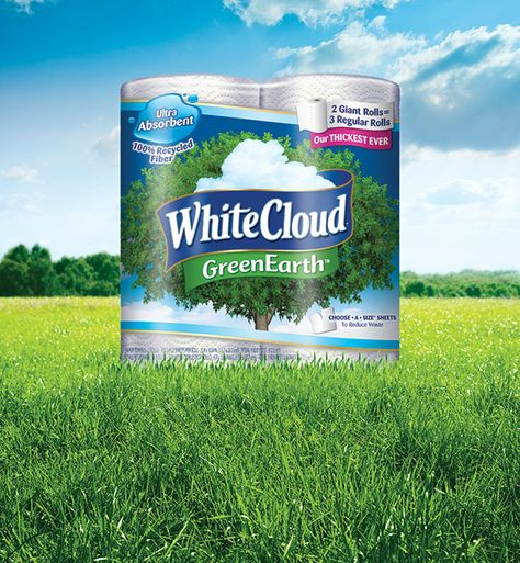 White Cloud GreenEarth® products are made from 100% recycled fibers! #LivingtheGreen