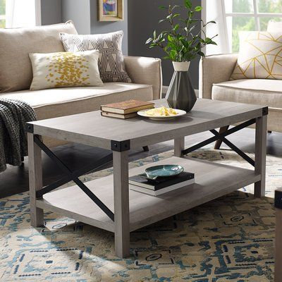 Foundry Select Arsenault Coffee Table With Storage Wayfair Coffee Table Furniture Farm House Living Room