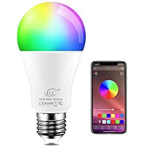iLC Colour Changing LED Light Bulb E27 8W RGBW Controlled by