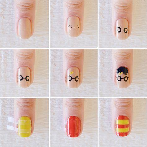 Nail art: Pra quem ama Harry Potter