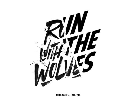 'Run With The Wolves' by Laura Dillema - Dribbble