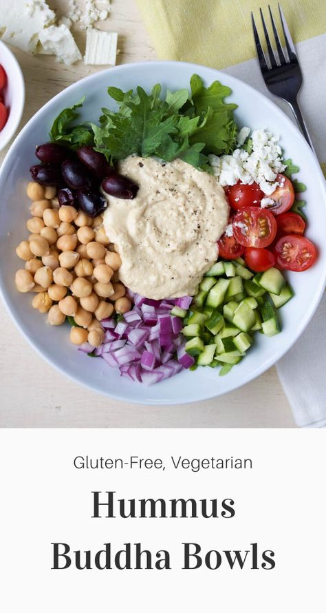 Really quick and easy to prepare, this Hummus Buddha Bowl is packed full of plant-based protein and is a great meal prep idea for weekday lunches!