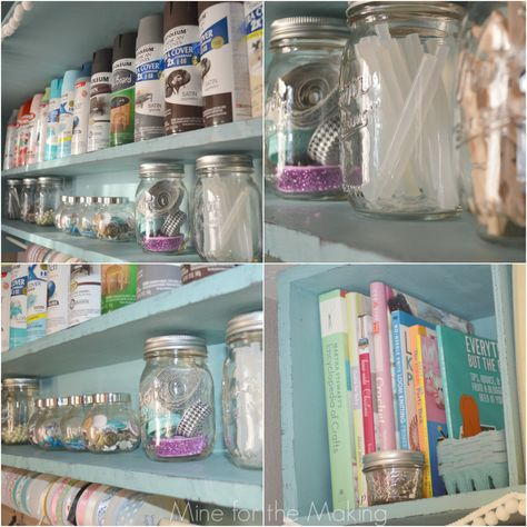 The before and after is jaw-dropping. Check out My Craft Room Reveal featuring Annie Sloan Chalk Paint and Soft Wax. #spon
