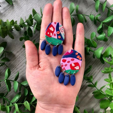 "Polymer Clay Earrings on Instagram: ""Have you seen my website yet? www.patersonlane.com . It's all stocked up for Mother's Day❤️ . . . #pinkisbeautiful #statementearrings…"""