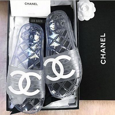 Chanel slides, Chanel sandals