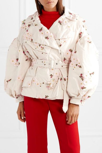 7df9af682 Moncler Genius - + 4 Simone Rocha embellished embroidered shell down ...