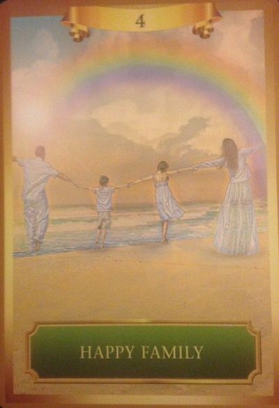 Today S Card Is 4 Happy Family From The Energy Oracle Cards The Rainbow Over This Happy Family Portends A Time Of Joy A Oracle Cards Angel Tarot Angel Cards