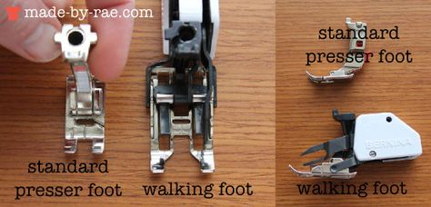 @madebyrae talking about using a walking foot! great video! #sewing