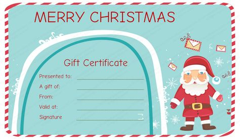 christmas gift voucher template certificate templates download - Christmas Certificates Templates For Word