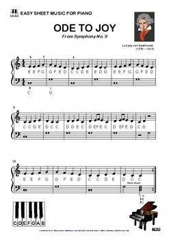 Ode To Joy Easy Sheet Music Pianoclasses Easy Sheet Music