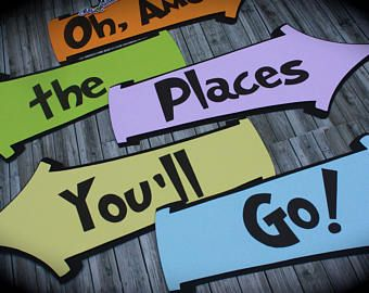 photo about Oh the Places You'll Go Arrows Printable titled Impression outcome for oh the areas youll shift arrows printable