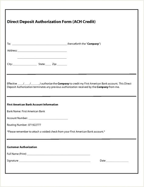 Get Our Image Of Direct Deposit Request Form Template Deposit Directions Templates