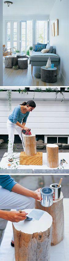 Leuk DIY projectje: houten tafeltjes #DIY #leenbakker