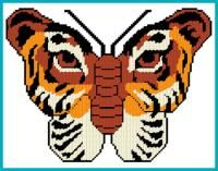 Everything Plastic Canvas - Tiger Butterfly