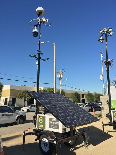 Mobile Surveillance Unit Security Cameras - ECAMSECURE