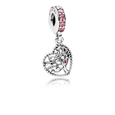 Tree of Love Dangle Charm with Multi-Colored CZ   Pandora beads ...