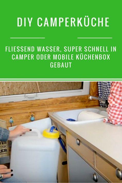 Diy Camperkuche Spule Mit Fliessend Wasser Einfach Und Schnell