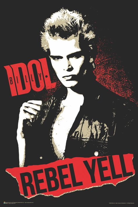 Billy Idol Rebel Yell Poster 24x36 inches
