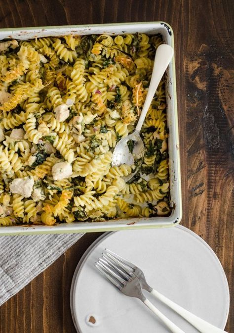 Recipe:  Chicken Pasta Bake with Spinach & Parmesan