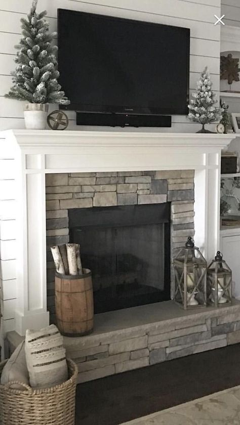 1003 Mantel Surround Paint Grade Ready to paint Mantel Surround 1003 Paint Grade Ready to paint Tv Over Fireplace, Brick Fireplace Makeover, Home Fireplace, Living Room With Fireplace, Fireplace Surrounds, Fireplace Design, Fireplace Update, White Mantle Fireplace, Fireplaces With Tv Above
