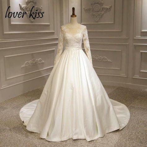 601d219d6c1e Item Type: Wedding DressesBrand Name: lover kissSleeve Style:  RegularBuilt-in Bra: YesDecoration: Beading,Appliques,Pearls,LaceWedding  Dress Fabric: ...