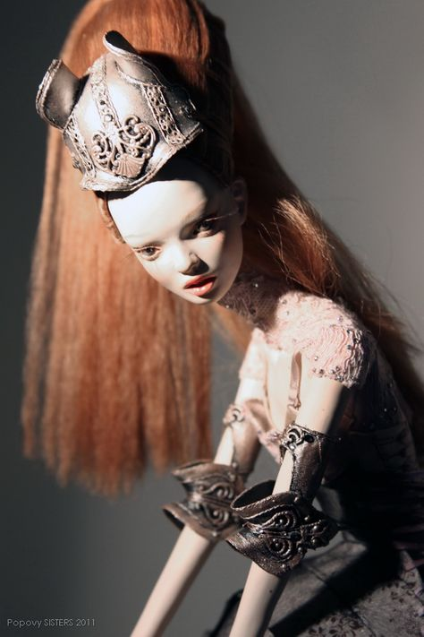 Popovy garter coll. golden horse- bony face   Art dolls