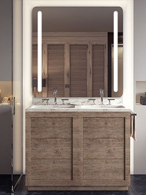 Led Lighted Mirror By Electric, Bathroom Mirror Tv Cabinet