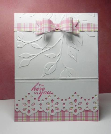 Embossed with scalloped edge card. Simple card design for any occasion