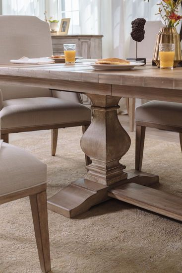 84 To 120 Rectangular Trestle Dining Table In Cypress Trestle