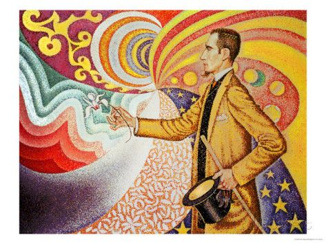 Against the Enamel of Background Rhythmic with Beats and Angels Giclee Print by Paul Signac at AllPosters.com