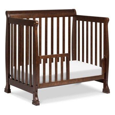 Davinci Kalani 4 In 1 Convertible Mini Crib And Twin Bed Espresso Brown Mini Crib Cribs Bed