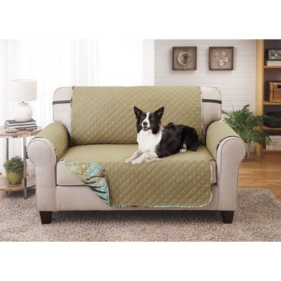 Bay Isle Home Printed T Cushion Loveseat Slipcover Wayfair Loveseat Slipcovers Love Seat Furniture Protectors