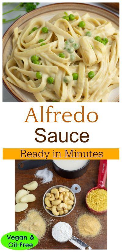 Easy Vegan Alfredo Sauce In 10 Minutes Recipe In 2020 Vegan Alfredo Sauce Vegan Alfredo Vegan Dinner Recipes