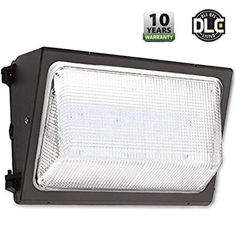 UL DLC Listed LED 120W Wall Pack Outdoor Lighting 5000K Cool White 11000 Lumen 800 Watt Equivalency Replacement 50000 Life Hours HIGHEST Quality