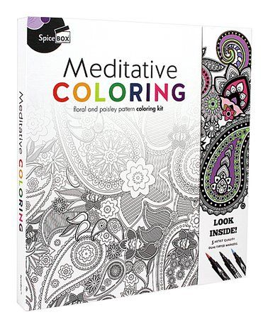 Loving This Art Therapy Meditative Coloring Kit On Zulily Zulilyfinds Meditative Coloring Meditation Color