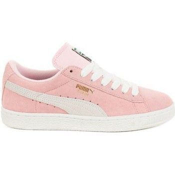 1e572118e477 Baskets basses Puma Basket Suède Pink Lady et Blanc Rose 65.00 ...