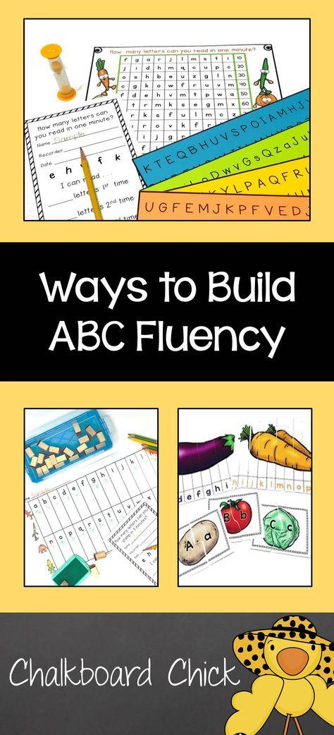 Ways to Build ABC Fluency