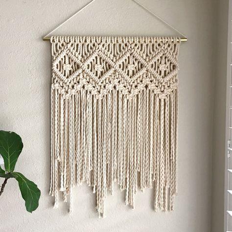 Macrame Patterns/Macrame Pattern/ Macrame Wall Hanging Pattern/Wall Hanging/Modern Macrame/Pattern/DIY/Craft/Name: Four of Diamonds