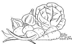 Image Result For Vegetables Clip Art Black And White Pintar