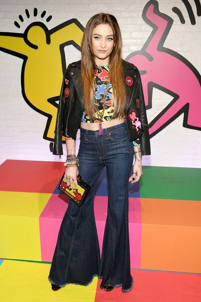 Paris Jackson attends the Launch Of Keith Haring x alice + olivia at Highline Stages.
