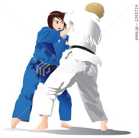 女子柔道試合2 黒帯 柔道 格闘技 女子