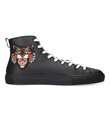 15d0853bd6f Men S Major Leather High-Top Sneakers With Appliqu    233S