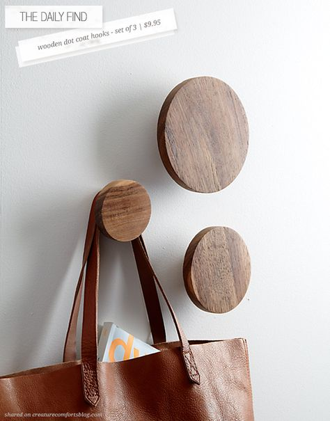 The Daily Find: Wooden Dot Coat Hooks                                                                                                                                                      More