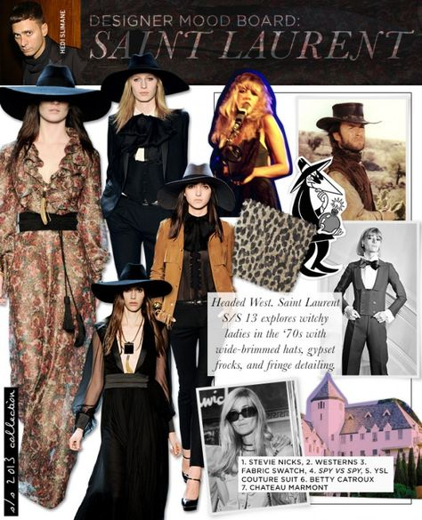 I'm not crazy about the hats- but that's fashion. Mood Board: Saint Laurent - Celebrity Style and Fashion from WhoWhatWear