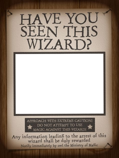 """WWoHP Photo frame based on Sirius Black's poster - Centre section is transparent - simply place this frame over your photo - by pixiezilla ~~~~~~~~~ Size: 4x3"""" @ 300 dpi. This card is **Personal use only - NOT for sale/resale** Harry Potter, WWoHP, poster words and style all belong to JK Rowling/Warner Bros/Universal Studios. Nails from www.clker.com . Font is Stamping Nico www.dafont.com/stamping-nico.font *** Click through for Witch version *** #harrypotter #wwohp #scrapbooking"""