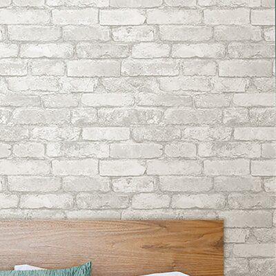 Williston Forge Wokingham 18 X 20 5 Peel And Stick Wallpaper Roll In 2021 Wood Plank Wallpaper Brick Wallpaper Faux Brick